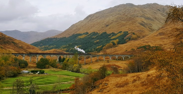 Glenfinnan Viadukt mit Jacobite Steam Train